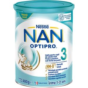 Lapte praf NESTLE NAN Optipro 3 HM-O 12426390, 1 - 2 ani, 400g