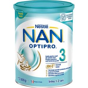 Lapte praf NESTLE NAN Optipro 3 HM-O 12426352, 1 - 2 ani, 800g