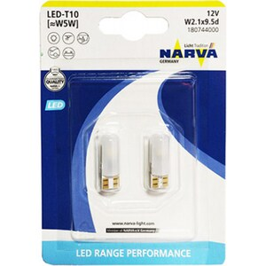 Bec auto LED NARVA , T10 (W5W), 12V, 2 bucati