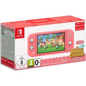 Consola portabila Nintendo Switch Lite Animal Crossing, coral