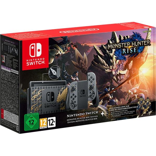 Consola NINTENDO Switch (Joy-Con Grey) HAD + joc Monster Hunter Rise (cod download)