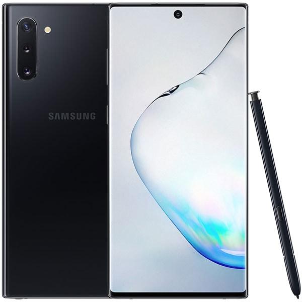 """SAMSUNG Galaxy Note 10, 6.3"""", 256GB, 8GB RAM, Dual SIM, 4G, Aura Black"""