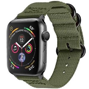 Bratara pentru Apple Watch 38mm/40mm, PROMATE Nylox-38, nylon, verde