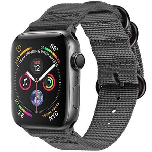 Bratara pentru Apple Watch 38mm/40mm, PROMATE Nylox-38, nylon, gri