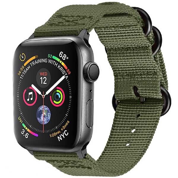 Bratara pentru Apple Watch 42mm/44mm, PROMATE Nylox-42, nylon, verde