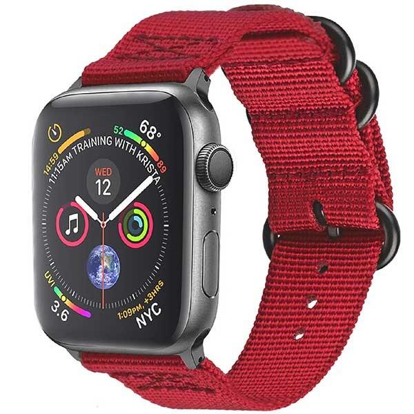 Bratara pentru Apple Watch 42mm/44mm, PROMATE Nylox-42, nylon, rosu