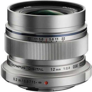 Obiectiv foto OLYMPUS M.ZUIKO Digital ED 12mm f/2.0, argintiu