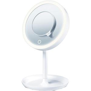 Oglinda cosmetica cu iluminare BEURER BS45, 17.5cm, alb