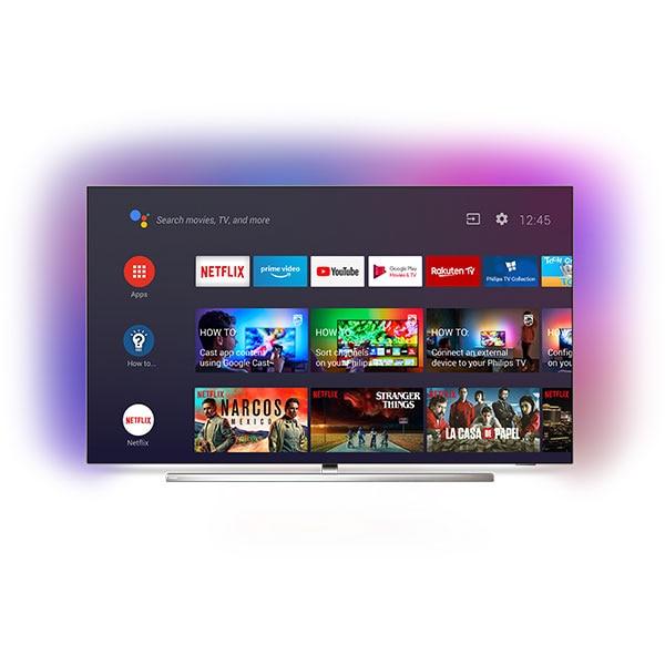 Televizor OLED Smart PHILIPS 55OLED854/12, Ultra HD 4K, HDR, Ambilight, 139 cm
