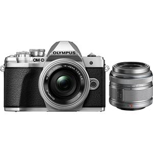 Aparat foto Mirrorless OLYMPUS E-M10 Mark III, 16.1 MP, 4K, Wi-Fi, argintiu + Obiectiv EZ-M1442IIR