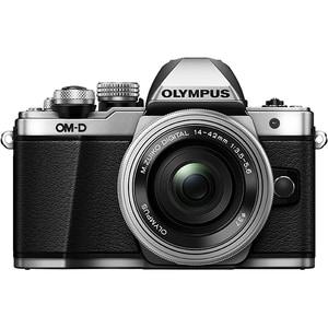 Aparat foto Mirrorless OLYMPUS E-M10 MARK II Pancake, 16 MP, Wi-Fi, argintiu + Obiectiv 14-42mm