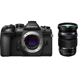Aparat foto Mirrorless OLYMPUS E-M1 Mark II, 20.4 MP, 4K, Wi-Fi + Obiectiv M.Zuiko ED 12-100mm PRO kit