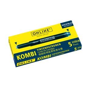 Patroane cerneala ONLINE Combi, 5 buc, albastru inchis