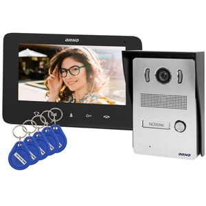 Interfon video cu fir ORNO OR-VID-VP-1069/B,LCD, 7 inch, negru-gri