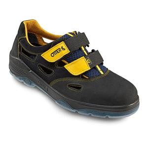 Sandale de protectie OTTER S1 SRC, bombeu metalic, piele nabuc, marimea 41, negru