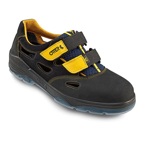Sandale de protectie OTTER S1 SRC, bombeu metalic, piele nabuc, marimea 38, negru
