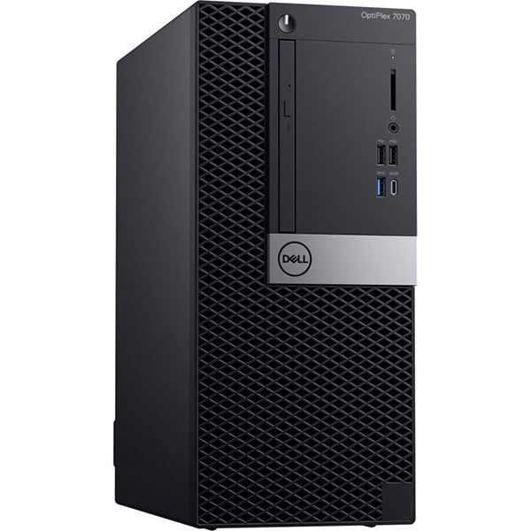 Sistem Desktop PC DELL OptiPlex 7070 MT, Intel Core i7-9700 pana la 4.7 GHz, 16GB, SSD 512, Intel UHD Graphics 630, Windows 10 Pro