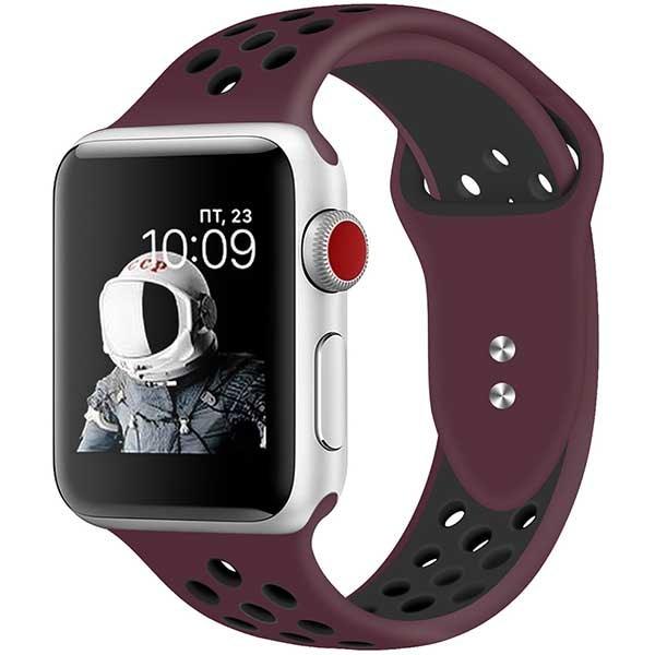 Bratara pentru Apple Watch 38mm/40mm, PROMATE Oreo-38ML, silicon, Medium/Large, maro-negru