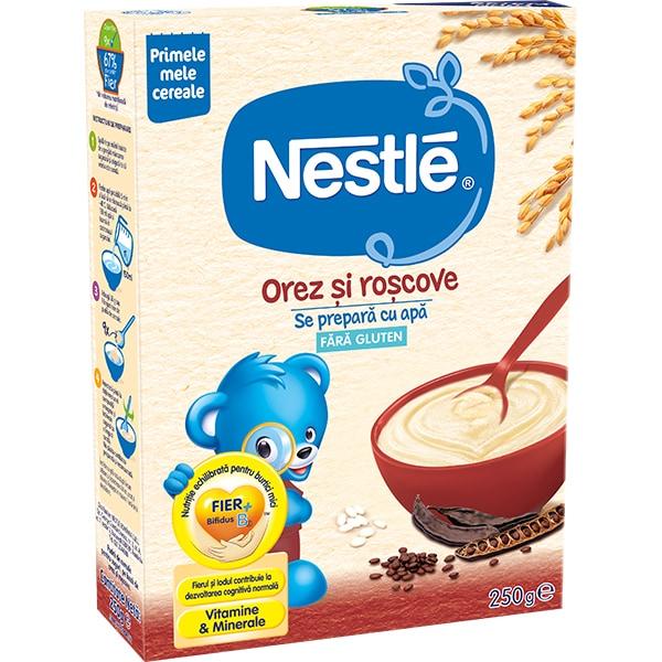 Cereale NESTLE Orez si roscove - Inceperea diversificarii 12403280, 0 luni+, 250g