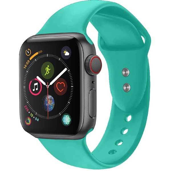 Bratara pentru Apple Watch 42mm/44mm, PROMATE Oryx-42ML, silicon, Medium/Large, turcoaz