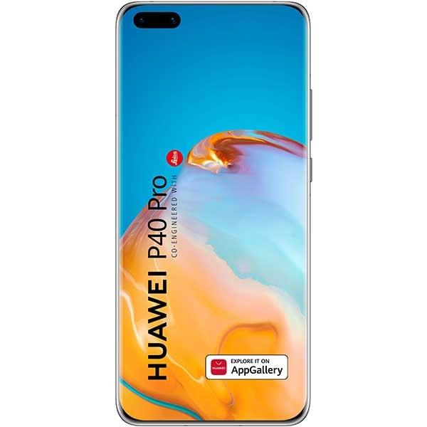 Telefon HUAWEI P40 Pro, 256GB, 8GB RAM, Dual SIM, 5G, Ice White