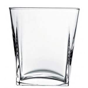 Set pahare whiskey PASABAHCE Carre, 6 piese, 0.31l, sticla