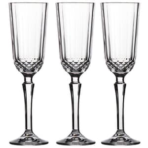 Set pahare sampanie PASABAHCE Diony, 3 piese, 0.125l, sticla