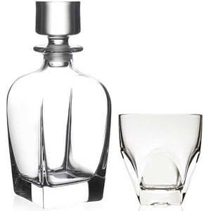 Set whisky RCR CRISTALLERIA Fusion: 6 pahare, 0.2l, sticla + 1 decantor, 0.8l, sticla