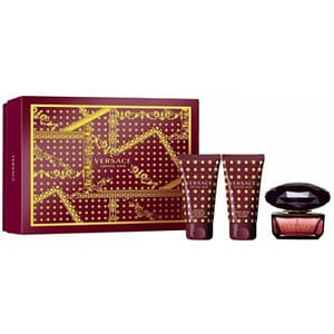 Set cadou VERSACE Crystal Noir: Apa de toaleta, 50ml + Gel de dus, 50ml + Lotiune de corp, 50ml