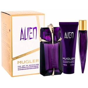 Set cadou THIERRY MUGLER Alien: Apa de parfum, 60ml + Lotiune de corp, ml + Apa de parfum, 10ml