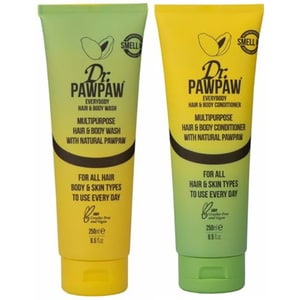 Set DR. PAWPAW Haircare: Sampon 2in1, 250ml + Balsam de par 2in1, 250ml