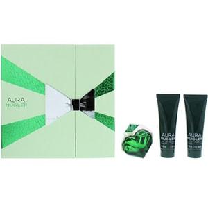 Set cadou THIERRY MUGLER Aura: Apa de parfum, 50ml + Lotiune de corp, 50ml + Gel de dus, 50ml