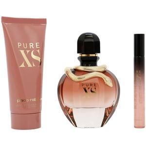 Set cadou PACO RABANNE Pure XS for Her: Apa de parfum, 80ml + Lotiune de corp, 100ml + Mini apa de parfum, 10ml