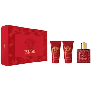 Set cadou VERSACE Eros Flame: Apa de parfum, 50ml + Gel de dus, 50ml + After Shave Balsam, 50ml
