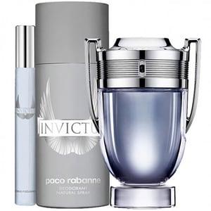 Set cadou PACO RABANNE Invictus: Apa de toaleta, 100ml + Mini apa de toaleta, 10ml + Deodorant spray, 150ml
