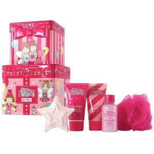 Set cadou THE LUXURY BATHING COMPANY Big Top: Gel de dus, 50ml + Spuma de baie, 50ml + Crema de corp, 50ml + Bomba baie, 45g + Burete