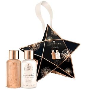 Set cadou THE LUXURY BATHING COMPANY Bright Star: Gel de dus, 50ml + Crema de corp, 50ml