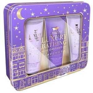 Set cadou THE LUXURY BATHING COMPANY Heavenly: Crema pentru maini si unghii, 3buc x 50ml