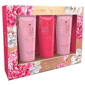 Set cadou THE LUXURY BATHING COMPANY Perfect Palms: Crema pentru maini si unghii, 3buc x 50ml