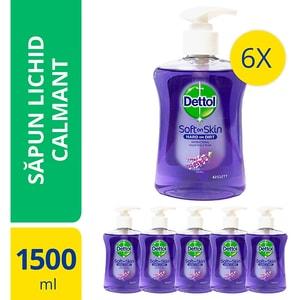 Sapun lichid DETTOL Soothe, 6 x 250 ml
