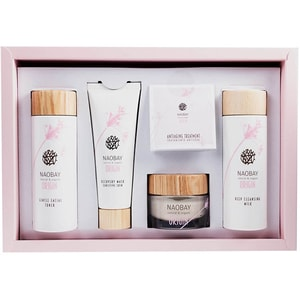 Set cadou NAOBAY Origin: Lotiune tonica Origin, 150ml + Lapte demachiant Origin, 150ml + Masca regeneranta si anti roseata Origin, 75ml + Crema regeneranta Origin, 50ml