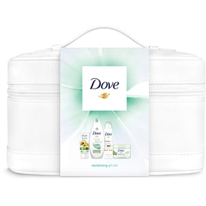 Set cadou DOVE Purifying Detox Premium Collection: Gel de dus Purifying Detox, 250ml + Spray antiperspirant Invisible Dry, 150ml + Exfoliant pentru corp Kiwi&Aloe Vera, 225ml + Crema de maini Nourishing Secrets, 75ml