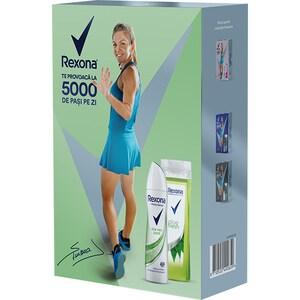 Set cadou REXONA Aloe Vera: Gel de dus, 250ml + Deodorant spray antiperspirant, 150ml