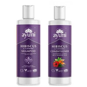 Pachet promo AYUMI Duo hair Turmeric: Smapon, 250ml + Balsam de par, 250ml