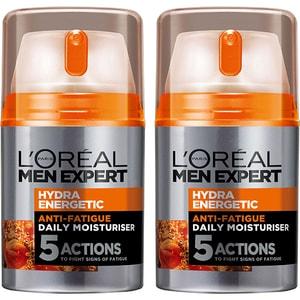 Set L'OREAL PARIS Men Expert Hydra Energetic: Crema de fata, 2buc, 50ml