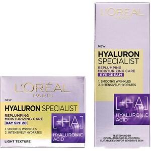 Set L'OREAL PARIS Hyaluron Specialist: Crema de zi, 50ml + Crema contur pentru ochi, 15ml