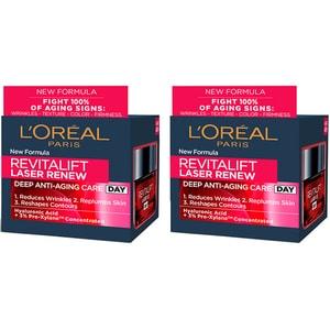 Set L'OREAL PARIS Revitalift Laser: Crema de zi, 2buc, 50ml