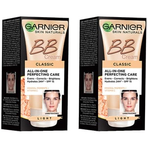 Set GARNIER Skin Naturals: Crema BB, Light, 2buc, 50ml