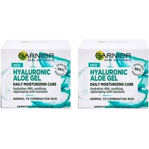 Set GARNIER Skin Naturals pentru ten mixt: Gel hidratant, 2buc, 50ml