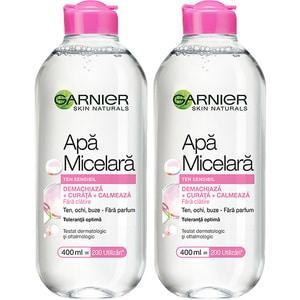 Set GARNIER Skin Naturals: Apa micelara pentru ten sensibil, 2buc, 400ml